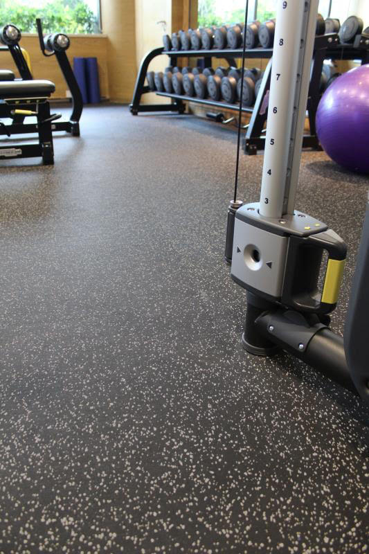 Gray Speckle Rubber Flooring Roll