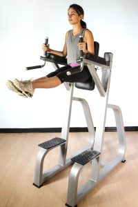 vertical knee raise power tower for abdominals