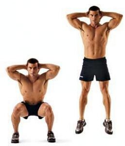 squat jump exercise example