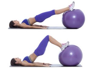 stability ball leg curl example